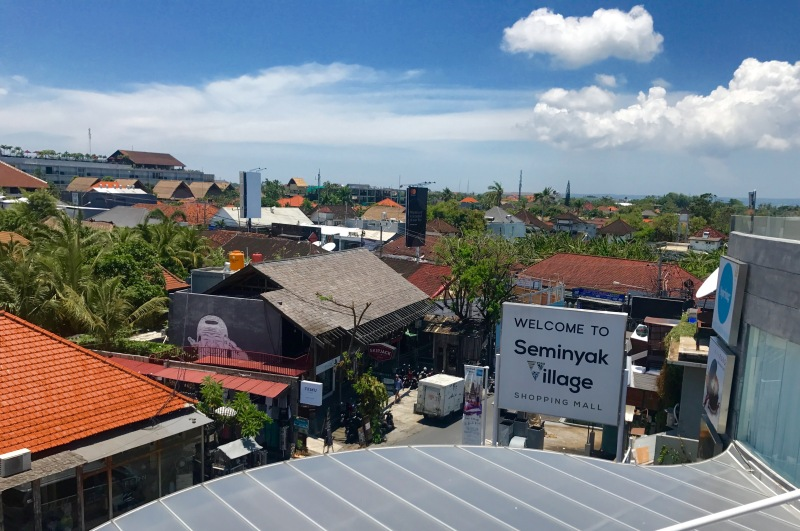 roof tops of seminyak village