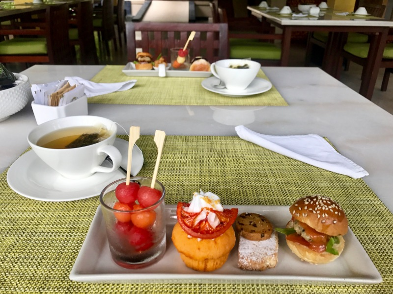 complimentary afternoon tea at the seminyak beach resort and spa