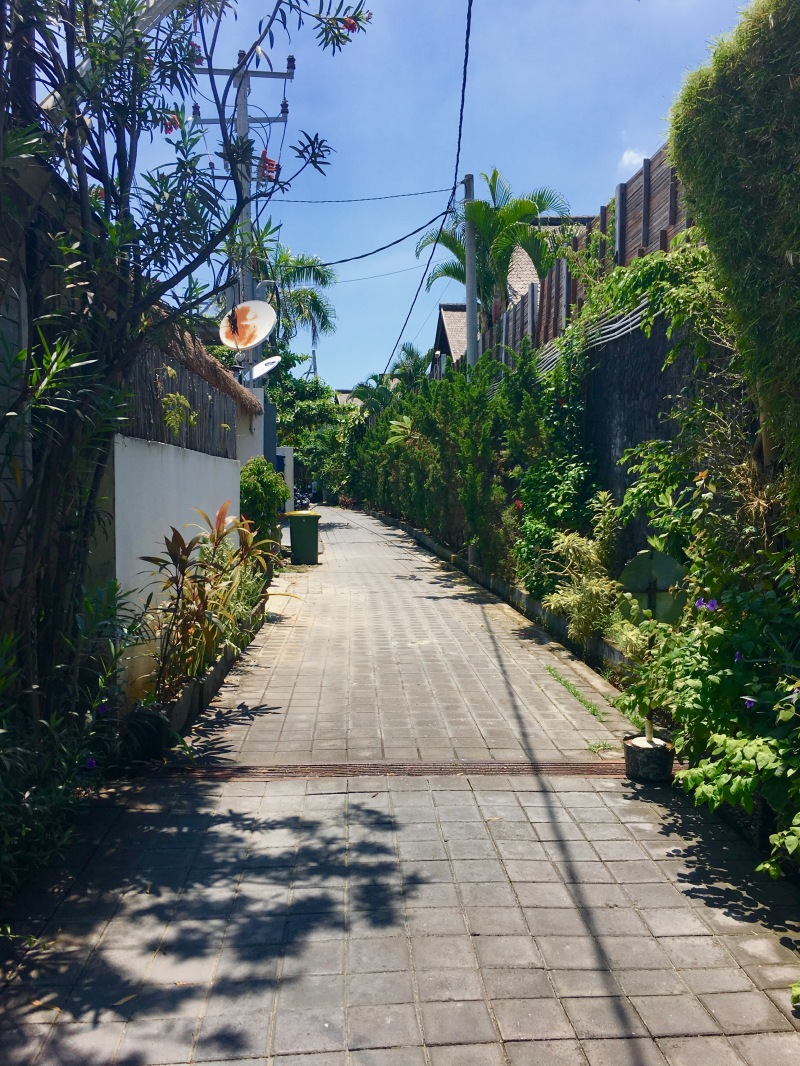 Seminyak village alley way