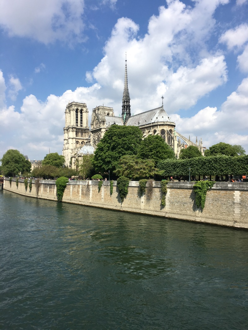notre dame paris from the seine