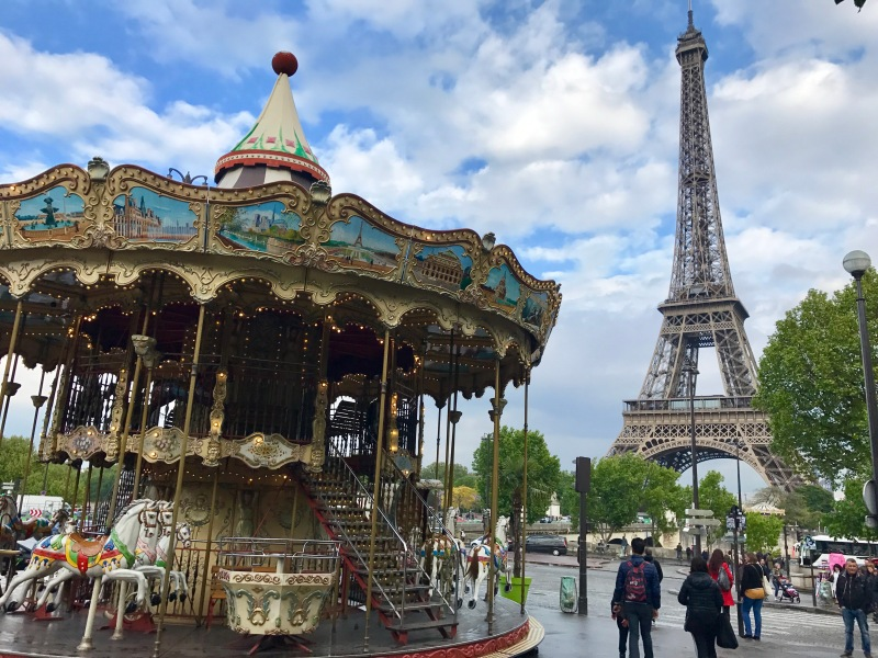 eiffle tower and carousel paris
