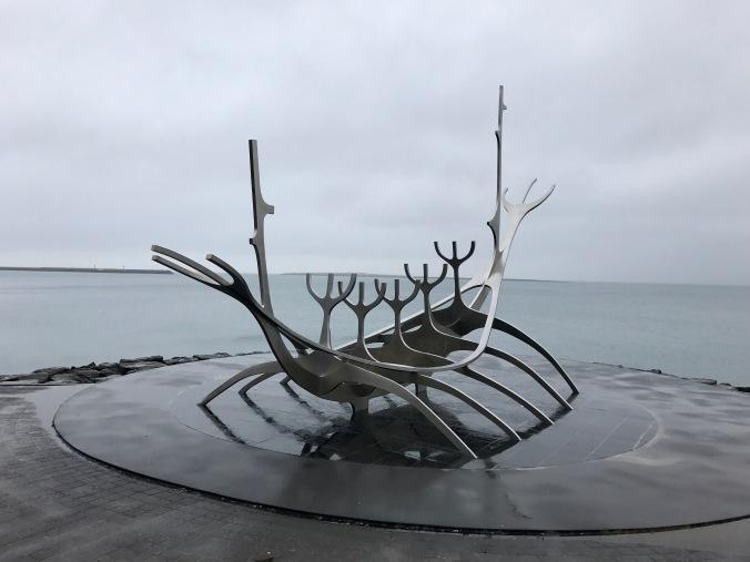 Reykjavik sea sun voyager sculpture