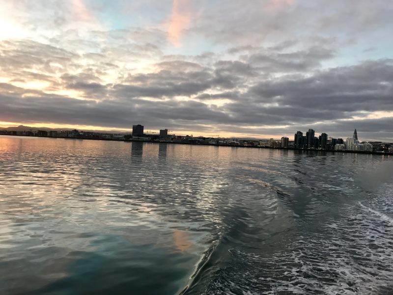 reykjavik at sunset