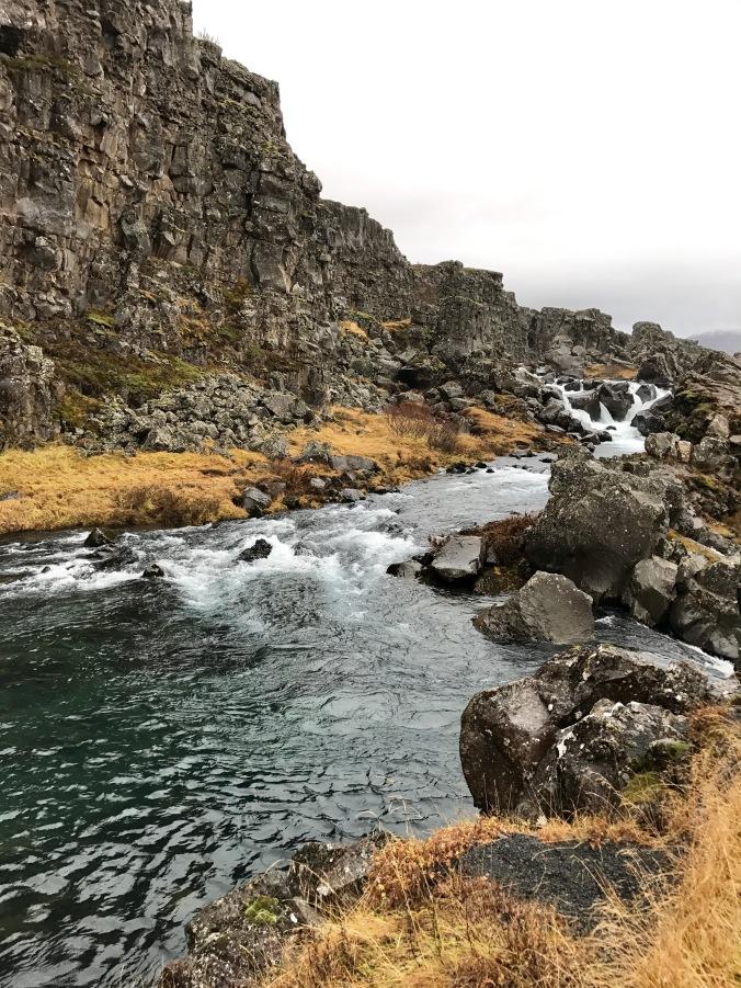 Thingvellir national park waterfall