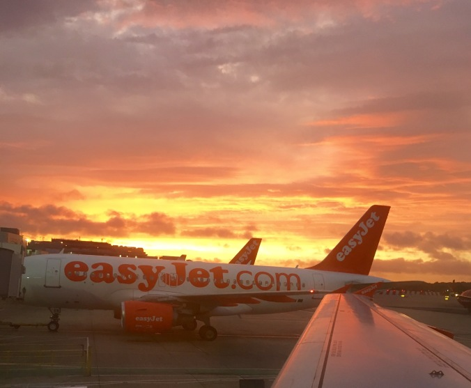 sunrise easyjet flight from gatwick