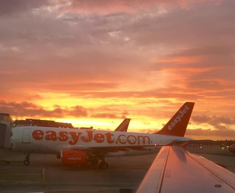 sunrise easyjet flight from gatwick