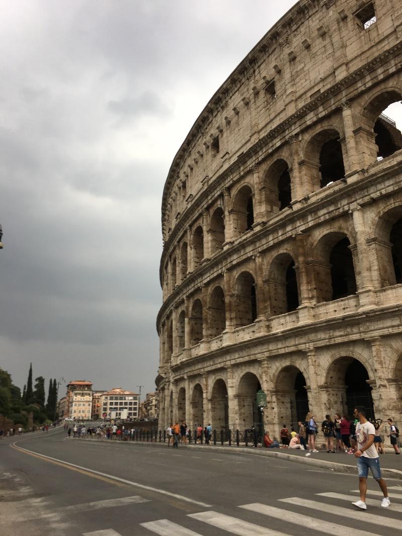 stormy colosseum, rome