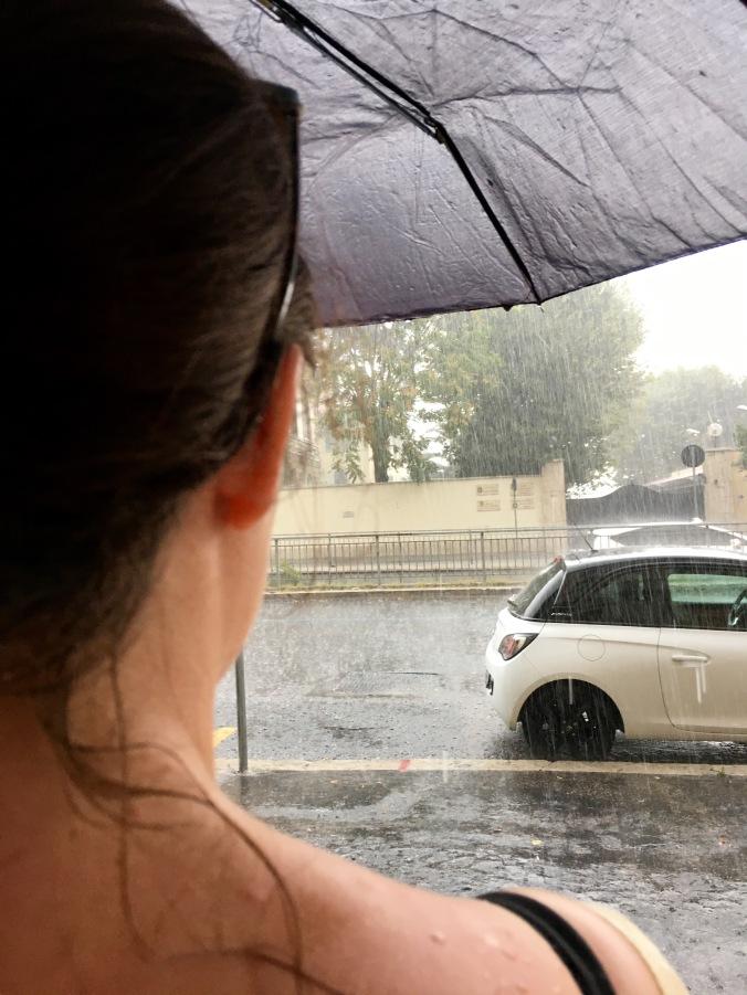 rome in the rain