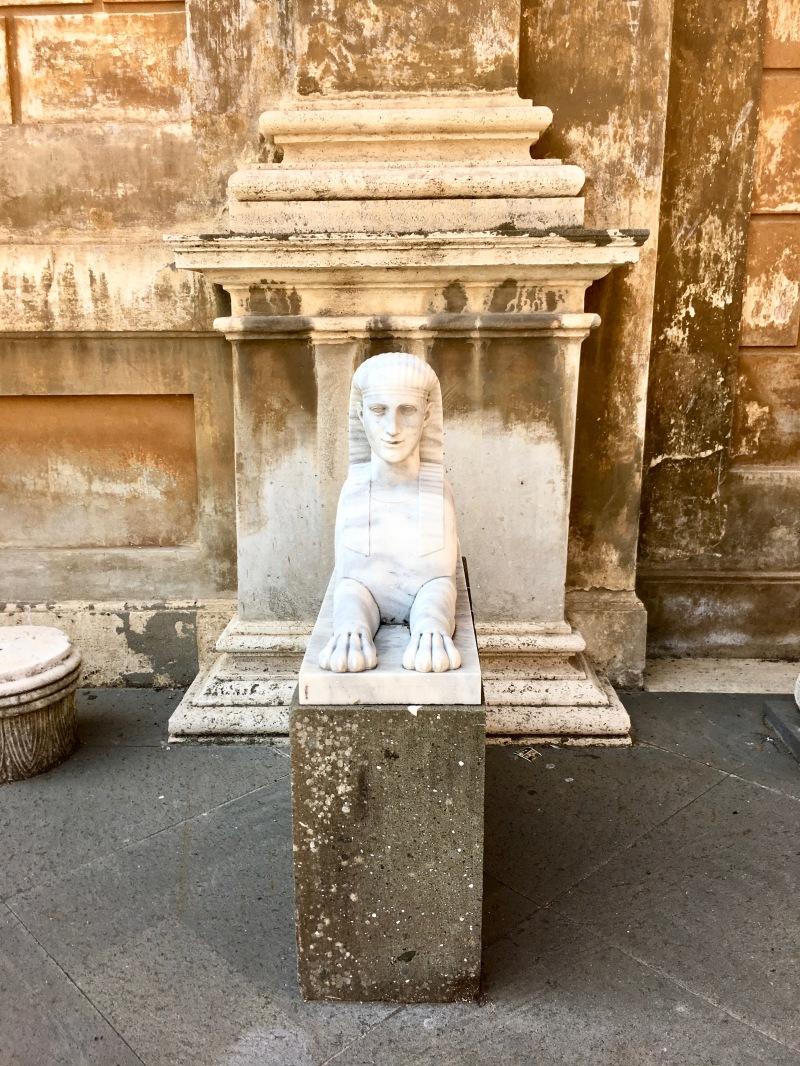 sculpture in the garden at the vatican