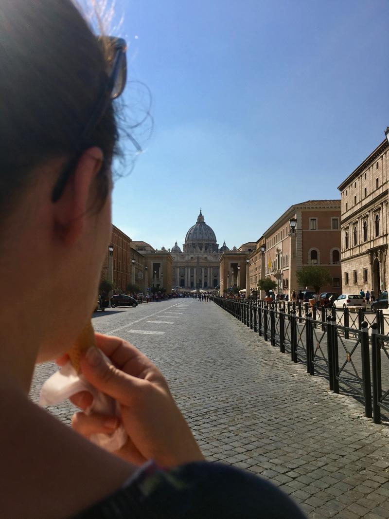gelato at the vatican