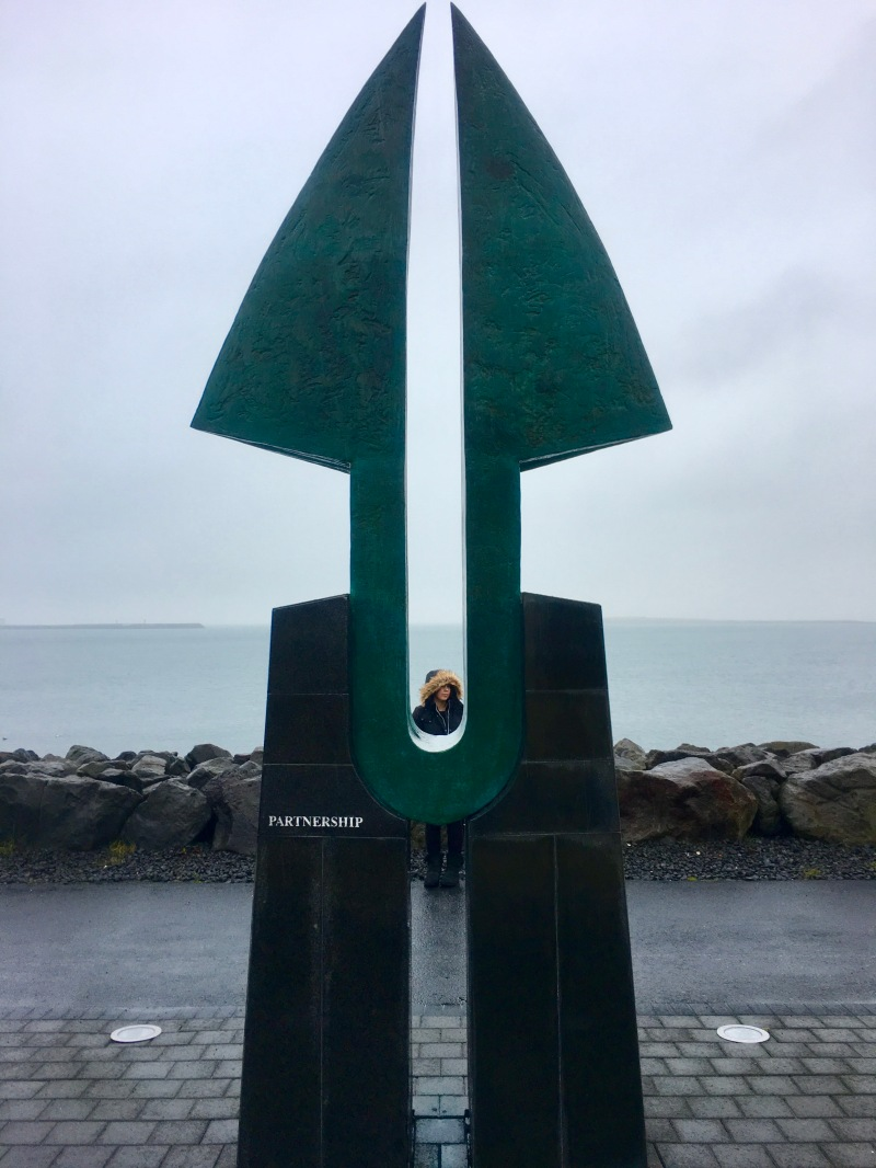 Reykjavik sea partnership sculpture