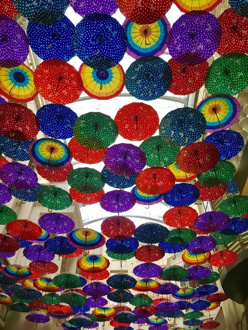 dubai mall umbrella art walk