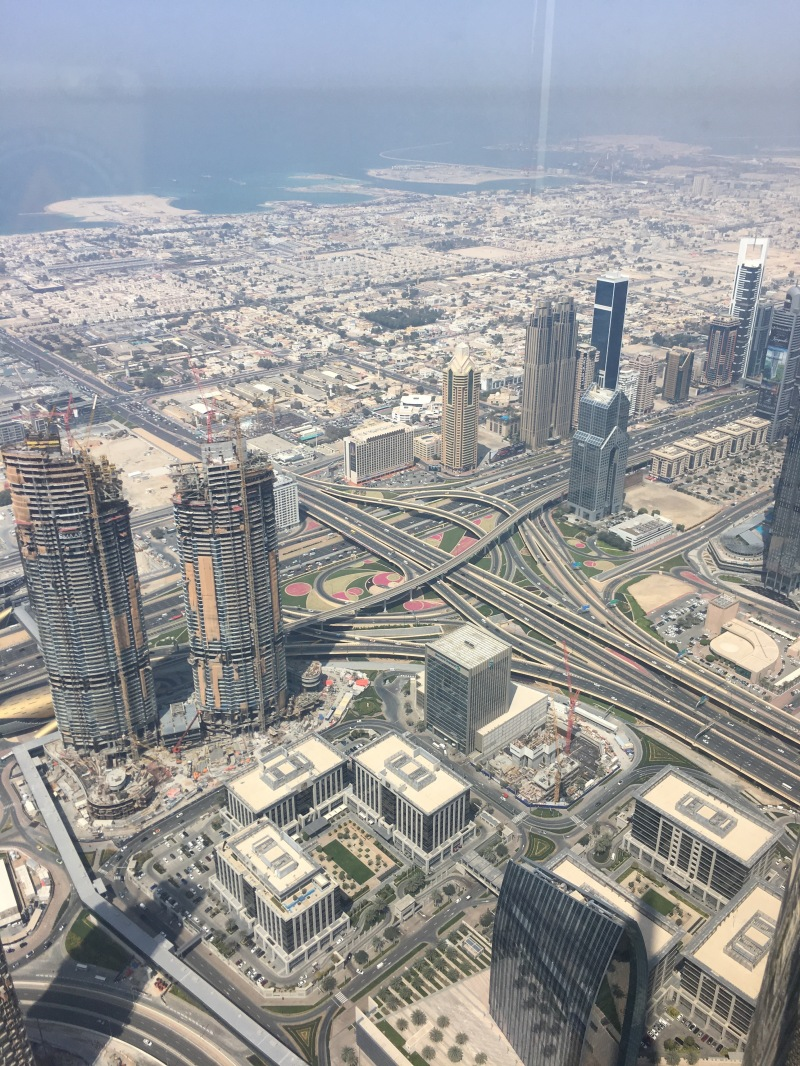 view from the top of the burj khalifa