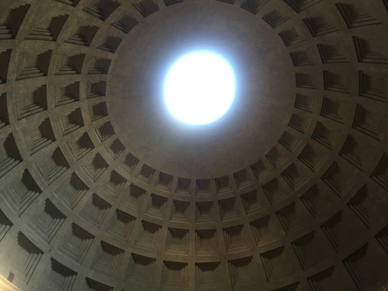 interior rome pantheon ceiling