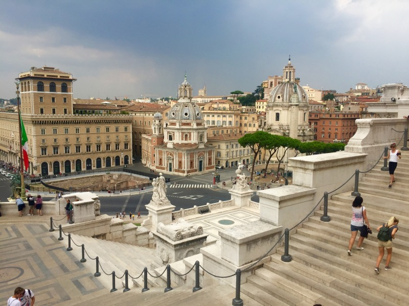 view from capitoline hill monument
