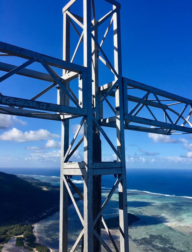 view from top of le morne brabant, mauritius