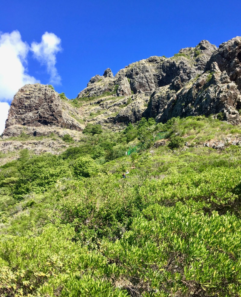 start of hike up le morne brabant, mauritius