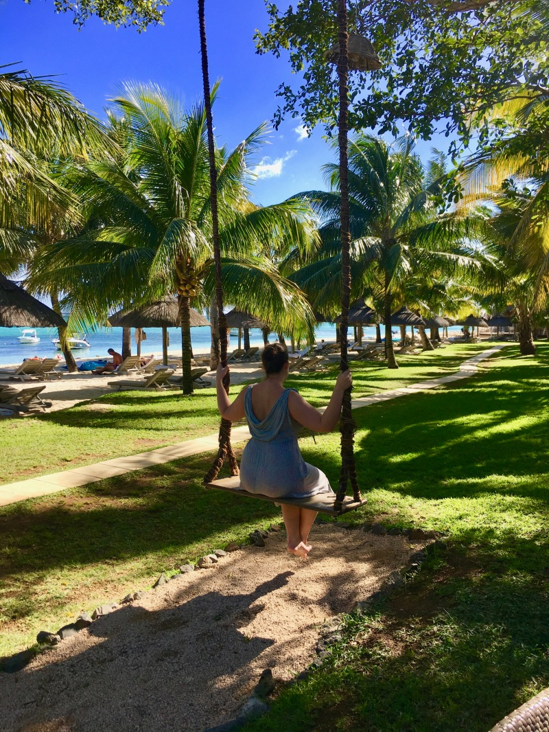swing at lux le morne, mauritius