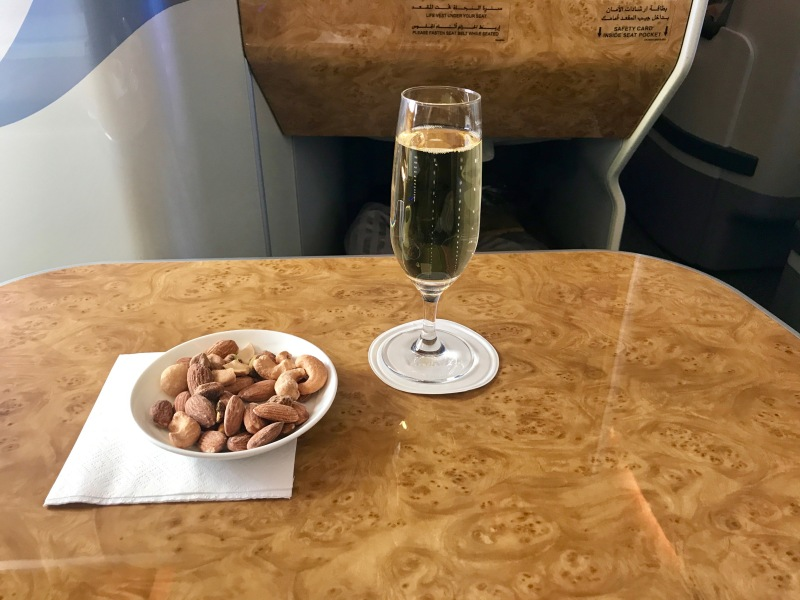 champagne, emirates business class