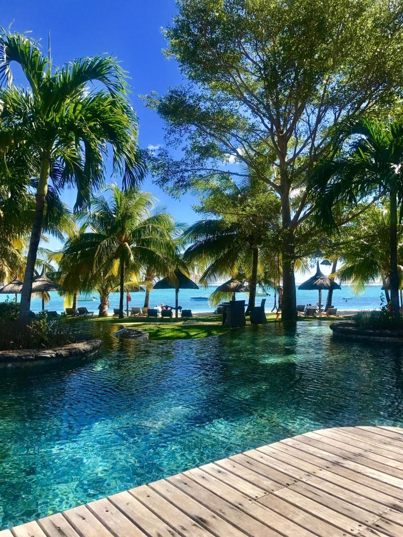 lux le morne resort, mauritius, ilot pool