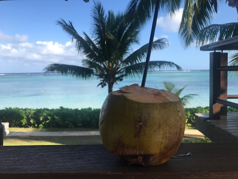breakfast coconut at ux le morne, mauritius