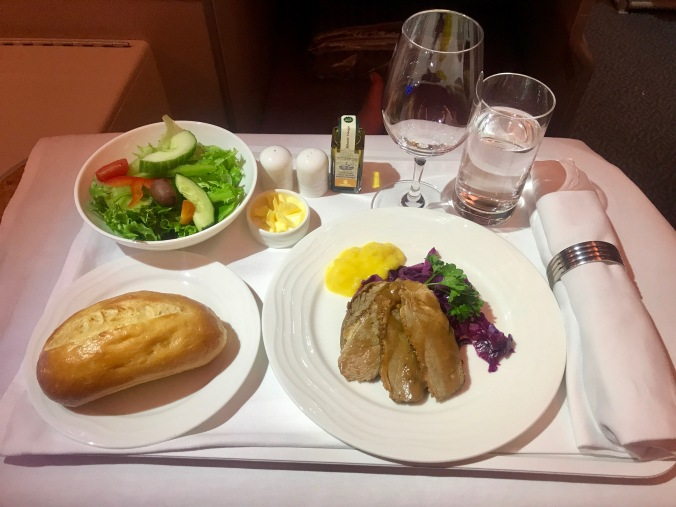 emirates business class meal