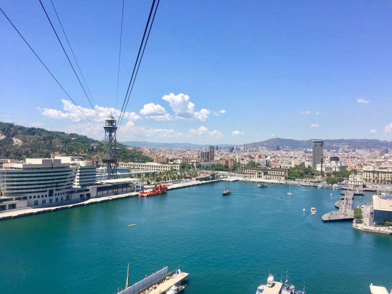Cable car ride, Barcelona