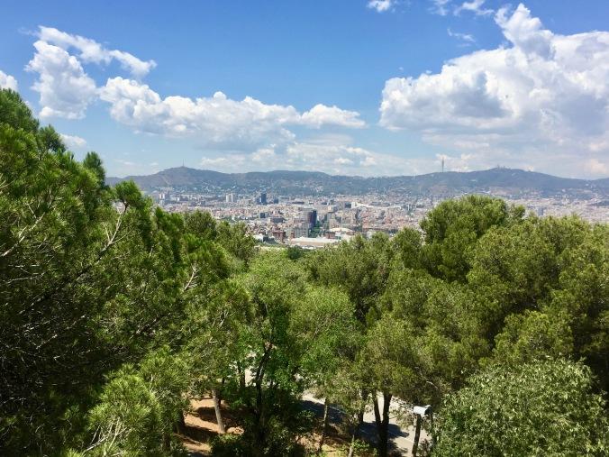 view from Montjuic castle, barcelona